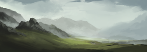 Landscape Sketch 1 by JanPhilippEckert