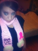 Breast Cancer Awareness Boob Scarf by alillama88