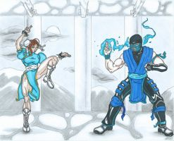 Chun Li vs Subzero by BobofWar17