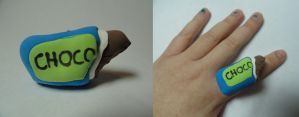 Chocolate Bar ring by TheSpazOutLoud