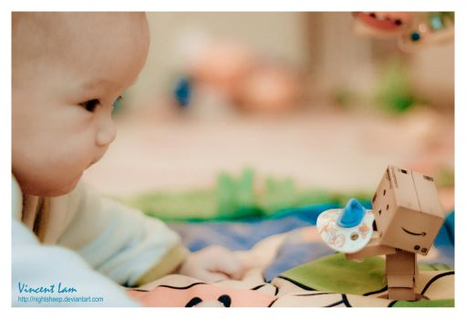 Danbo Helping with Kids by NightSheep