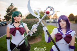 Sailor Pluto and Saturn 1 by Allerz-Fish