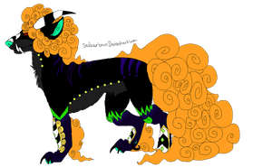 Halloween Fu Dog (CLOSED) by Neon-Spots-Adopts