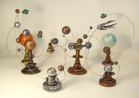 Group of Orrery Solar Systems by buildersstudio