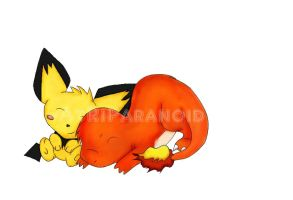 Charmander and Pichu by AtRiParanoid