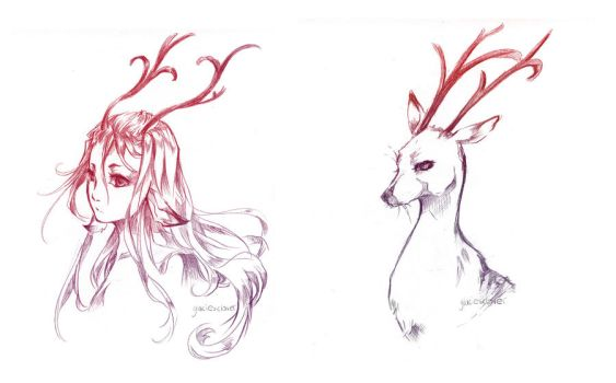 Nature's Twins: Forest Spirit by glaciesClOvEr