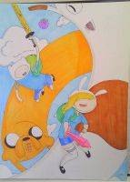 Adventure time copic- Finn and Fionna by justfangirling95