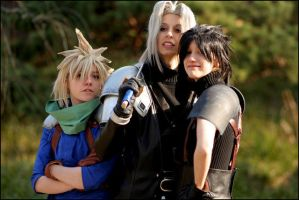 Sephiroth, Zack and Cloud by Maryru