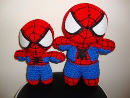 Arjeloops Spiderman and His Mini-Me Crochet Dolls by Arjeloops