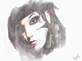 Andy Biersack - Watercolor Pencils by lizzard1427