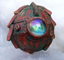 Polymer Clay Steampunk Egg10 by ValerianaSolaris