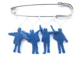 The Beatles Bag Charm Pin Brooch by ClayMyDay