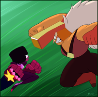Garnet vs. Jasper by Cogmoses