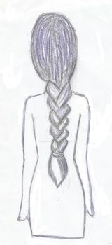 Woman with braids sketch by TheQuietFeather