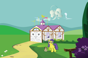 My Little Pony Show Stable w/ Lemon Drop by Belldandychan