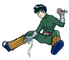 Rock Lee paintchat doodle by -babykefka-