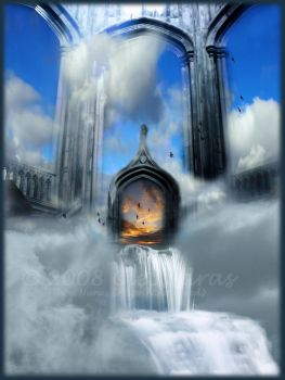 Temple of Setting Clouds by Clepsidras