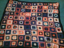 10 X 10 granny square blanket by lovechairmanmeow