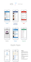 iOS 7 3rd Party App Mockups/Redesigns by osullivanluke