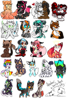 Tiny Chibis Batch 7 by LovelessKia