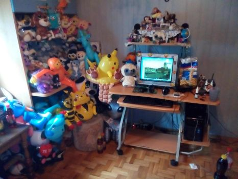 My Computer With Plush Toys More collection 127 by PoKeMoNosterfanZG