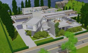 Sims 3 Modern luxury mansion by RamboRocky