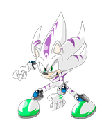 Spirit The (Ghost) Hedgehog by X-A-K