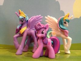 Luna, Celestia and Twilight Blind Bags by FinalSmashPony