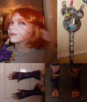 Katt Cosplay WIP 1 by TheBlindProphetess