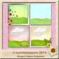 4 Summerpapers 2014 Preview by Creativescrapmom