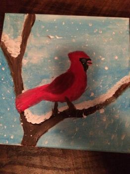 Cardinal painting by F00000d