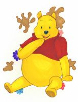 QuickArt: Winnie the Pooh by InuyashaFan4-ever