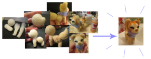 Hunnie sushi dog plush - before and after pictures by cobalt-bow