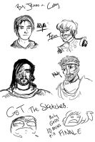 GAME A THRONES SKETCHES MAN by arystar