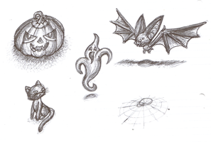 Halloween Squiggles by Wooded-Wolf
