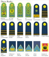 New Aquilaan Air force Officers Dress Ranks by Ienkoron