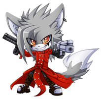 Chibi cosplay:Lance-Vash the Stampede by Extra-Fenix