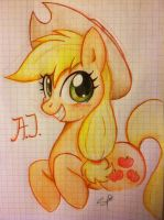 Applejack Portrait by steffy-beff