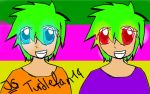 Mikey and Donnie as Humans by TurtleFan14