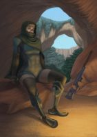 Warrior in repose by Electric-Raygun