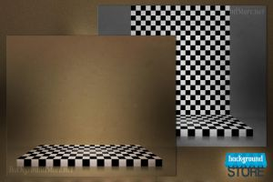 Checkerboard Stage Abstract Backdrop by BackgroundStore