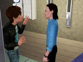 SimCelebrityPic: Cumberbatch and Hiddleston by 14LolaLoverX3