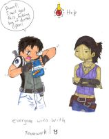 Resident Evil 5 Teamwork by dragondoneit