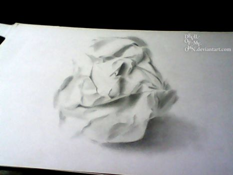 Crumpled Paperball ..... (3D Drawing) by Ankredible
