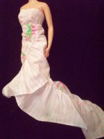 Rose Ruffled Gown by Alaminia