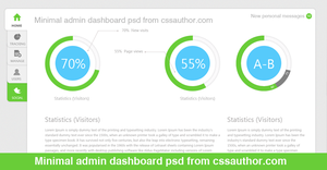 Minimal Admin Dashboard PSD - cssauthor.com by cssauthor