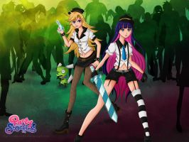 Panty and Stocking with Zombies by NightBlossom66