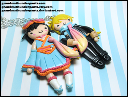 Custom Roxas/Xion BFF Set by GrandmaThunderpants