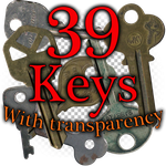 39 Keys with transparency by Emerald-Stock