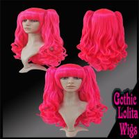 Wavy Atomic Pink Wig by GothicLolitaWigs